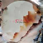 广州夹山水画玻璃定制酒店背景墙隔断山水画玻璃供应