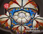 定制教堂彩色玻璃穹顶--圆博工艺