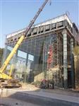 山西平遥长治15hm19MM厚展厅钢化玻璃幕墙价格