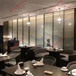 广州富景玻璃供应酒店山水画玻璃夹绢玻璃背景墙定制