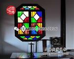 老上海彩色拼接玻璃窗彩绘玻璃厂家直销