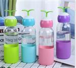 300ml新款创意时尚便携小草玻璃水杯