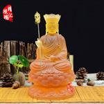 26cm地藏王菩萨琉璃佛像定制北京地藏王寺庙供养