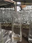 晶白料长方形玻璃酒瓶