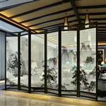山水画夹丝艺术玻璃制造