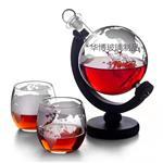 地球仪酒瓶红酒瓶醒酒器玻璃酒瓶帆船酒瓶