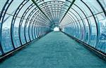隧道弯玻璃圆弧椭圆超白弯钢玻璃