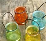 玻璃烛台彩色多彩瓶花瓶花盆