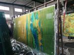 12mm山水画钢化夹胶玻璃