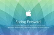 苹果发布邀请函 确定3月26日凌晨召开春季新品发布会
